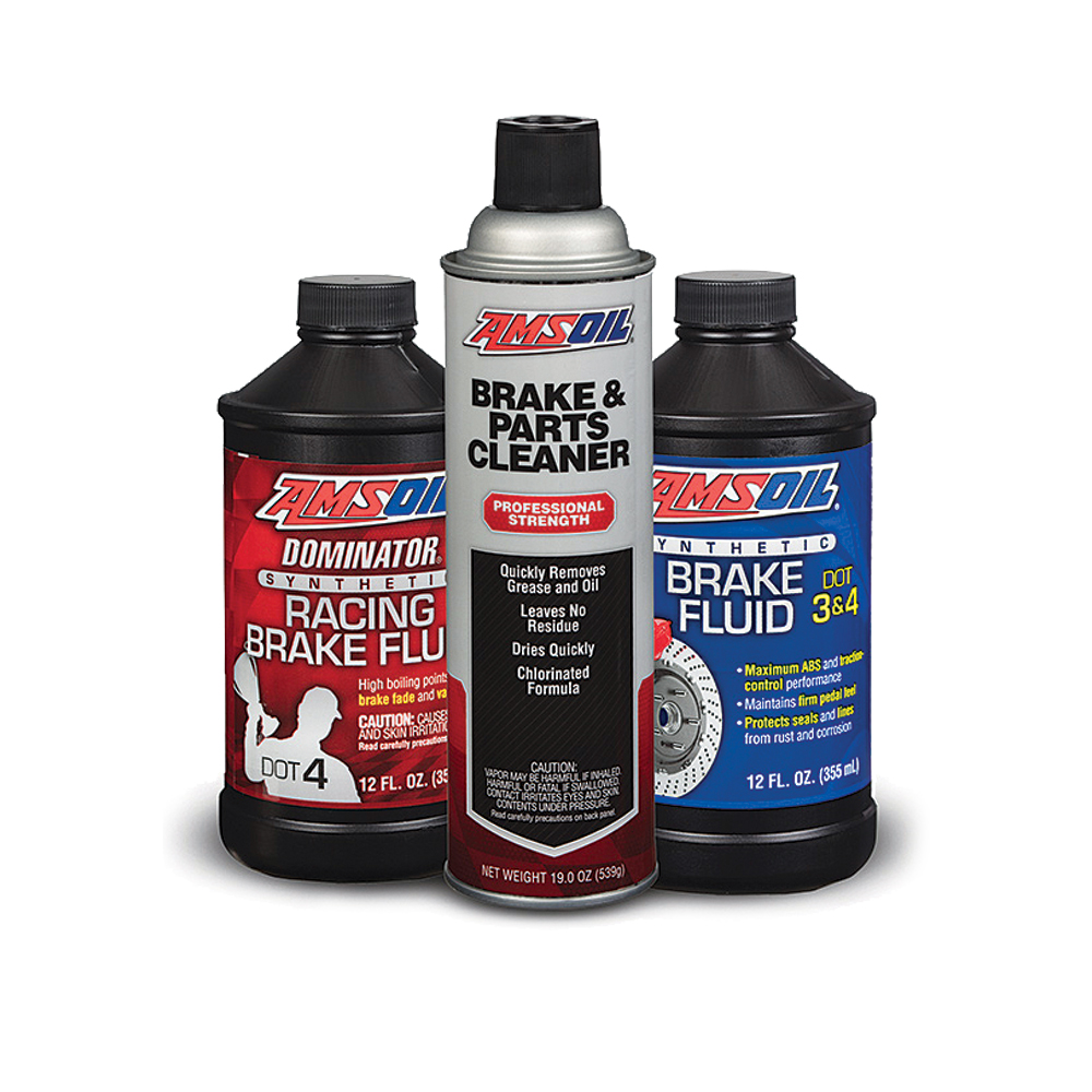 AMSOIL Synthetic Brake Fluids & Brake/Parts Cleaner